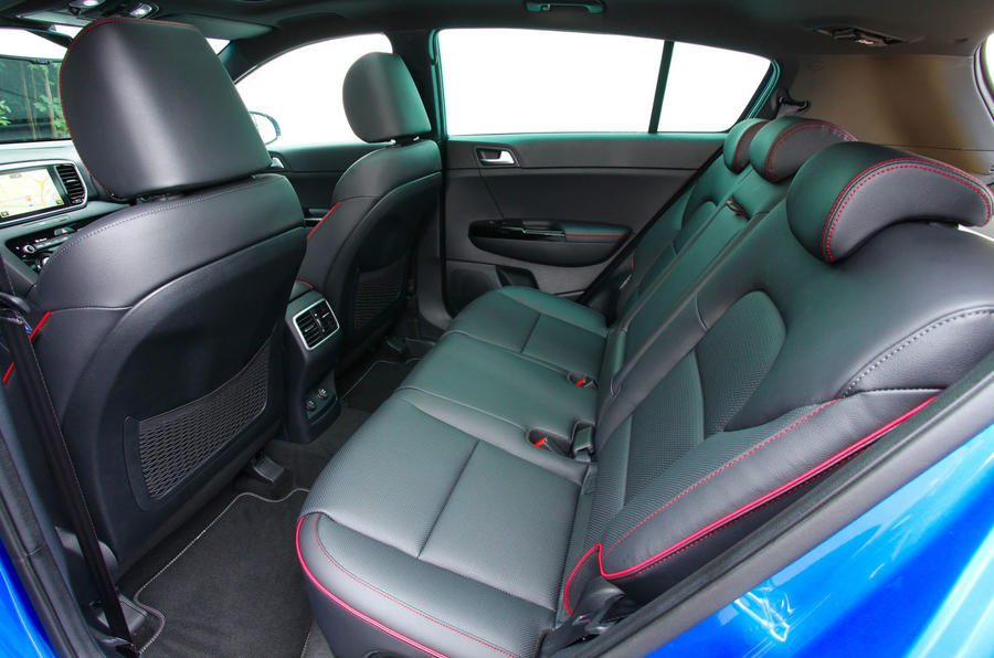 Kia Sportage GT-Line S 48V 2018 first drive review rear seats