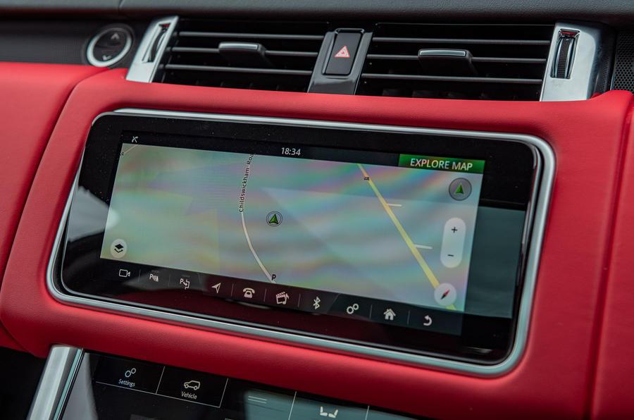 Land Rover Range Rover Sport HST 2019 UK first drive review - infotainment