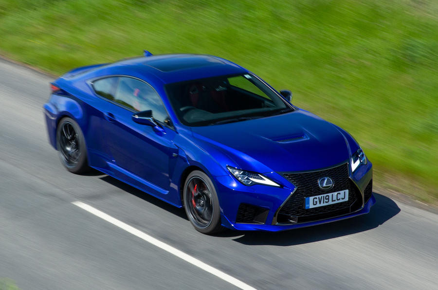 Lexus RC F with track pack 2019 first drive review - on the road front