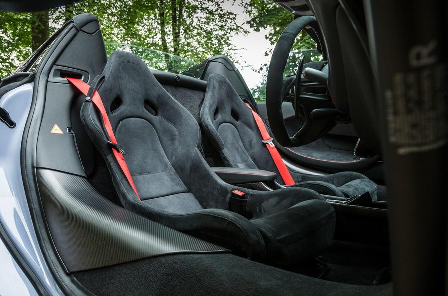 McLaren 570S Spider Track Pack 2018 UK review seats