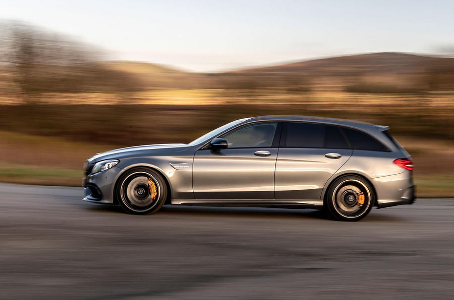 Mercedes-AMG C63 S Estate 2019 first drive review - on the road left