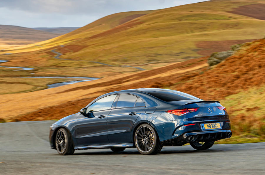 Mercedes-AMG CLA35 2020 UK first drive review - cornering rear