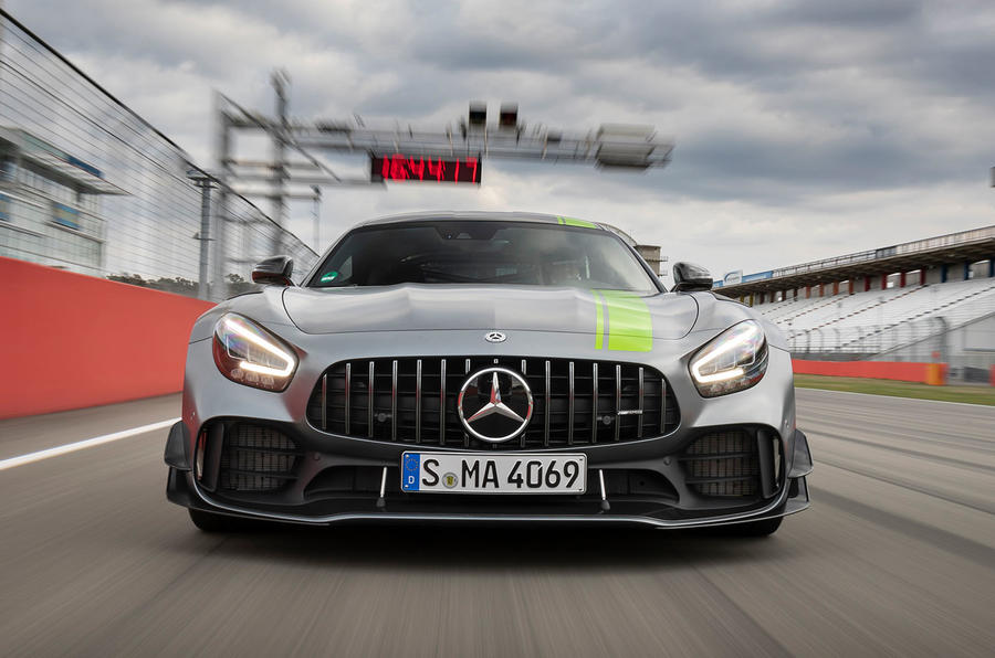 Mercedes-AMG GT R Pro on circuit - nose
