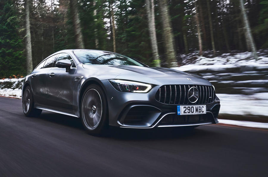 Mercedes-AMG GT 63 S 4-door Coupé 2019 UK first drive review - on the road front