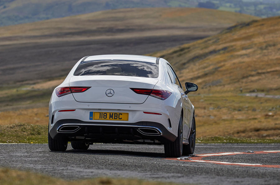 Mercedes-Benz CLA 250 2019 UK first drive review - on the road rear