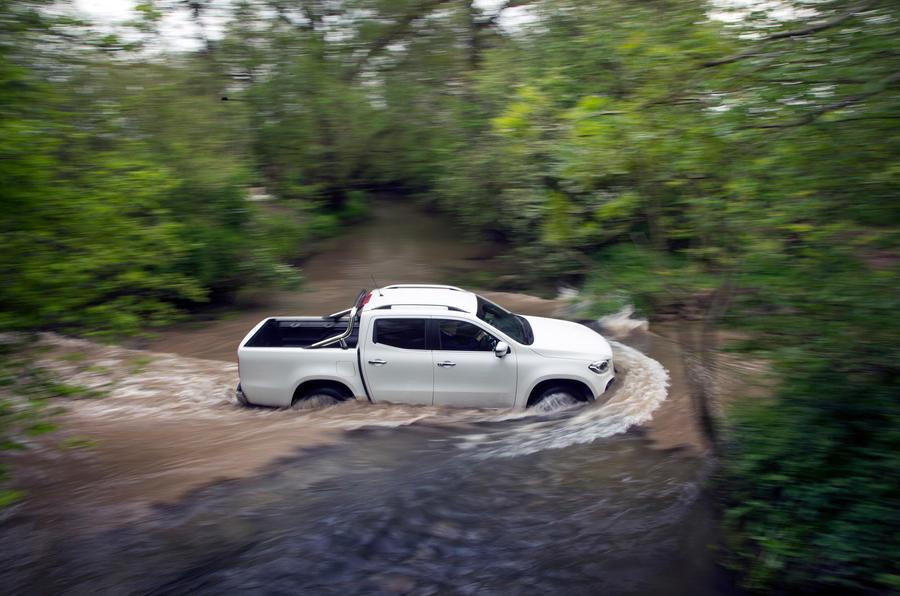 Mercedes-Benz X-Class longterm review wading side