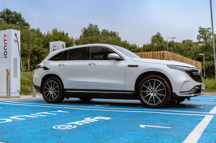 Mercedes-Benz EQC 400 2019 UK first drive review - charging