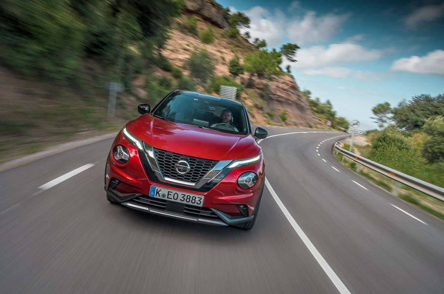 Nissan Juke 2019 first drive review - on the road nose