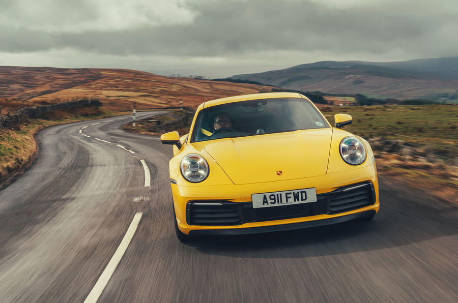 Porsche 911 Carrera 4S 2019 UK first drive review - on the road front