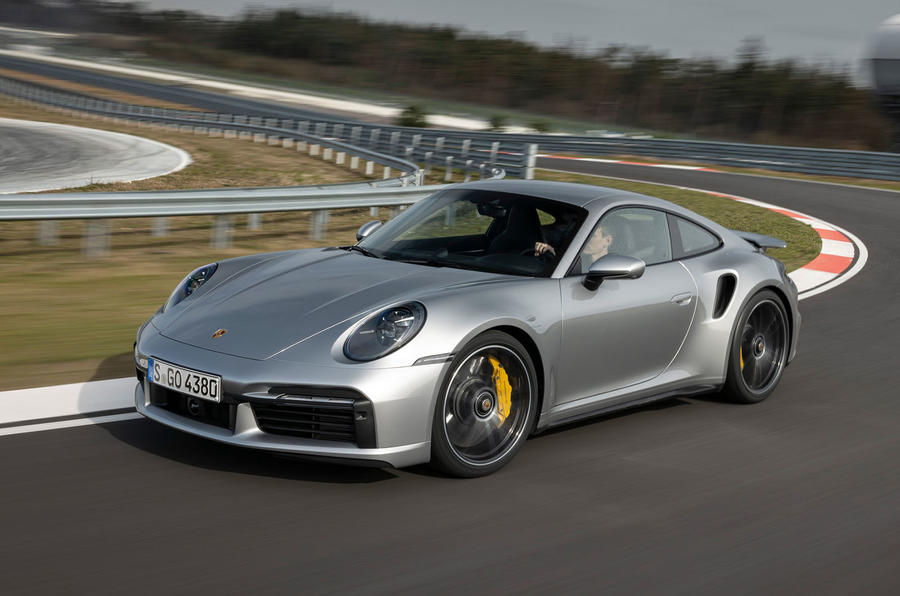 Porsche 911 Turbo S 2020 first drive review - track cornering