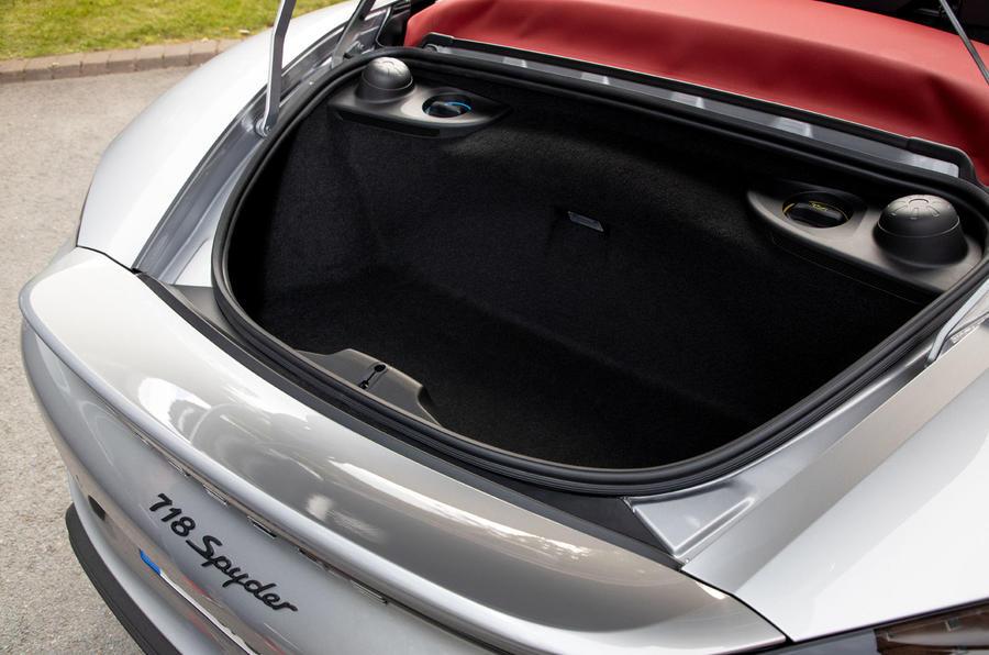 Porsche 718 Boxster Spyder 2019 first drive review - boot
