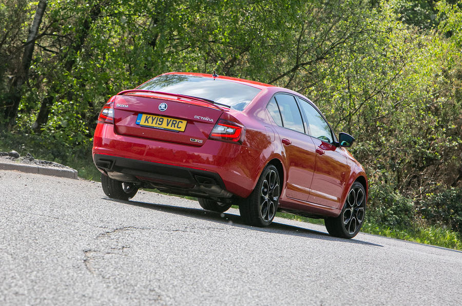 Skoda Octavia vRS Challenge 2019 UK first drive review - static rear