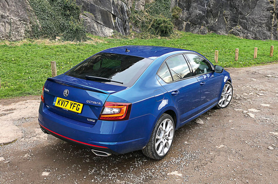 Skoda Octavia vRS diesel longterm review static rear