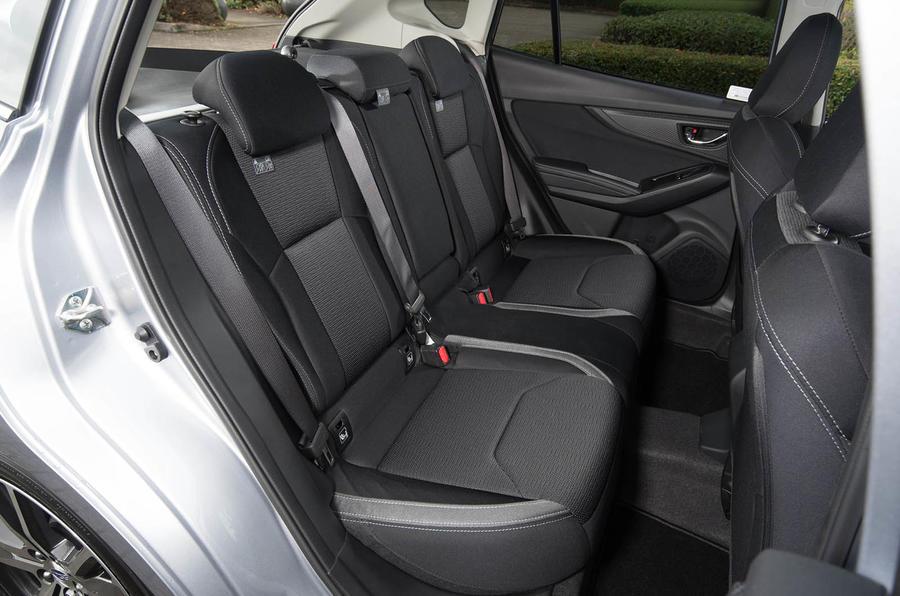 Subaru Impreza 2018 UK review rear seats
