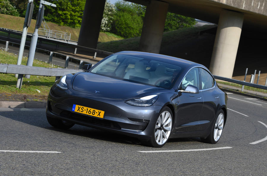 Tesla Model 3 Performance 2019 UK first drive review - on the road front