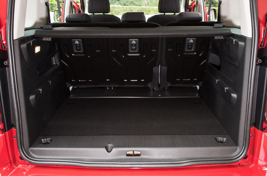 Vauxhall Combo Life 2018 UK first drive review boot space seats up