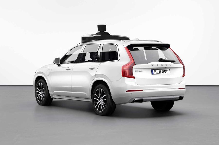 Volvo Xc90 Commercial >> Volvo and Uber unveil autonomous production XC90 | Autocar