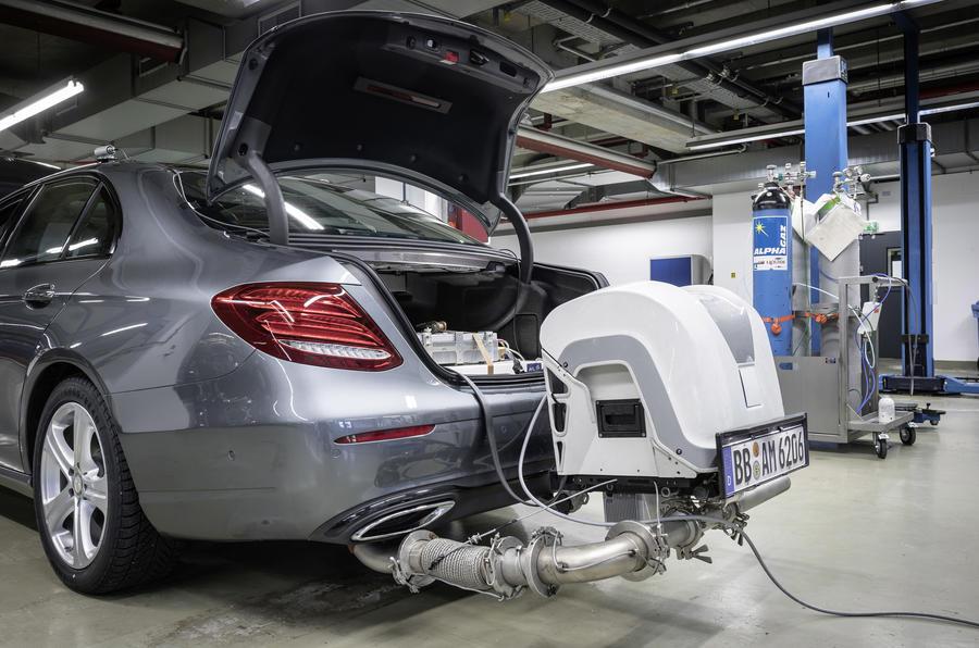 PEMS emissions testing equipment