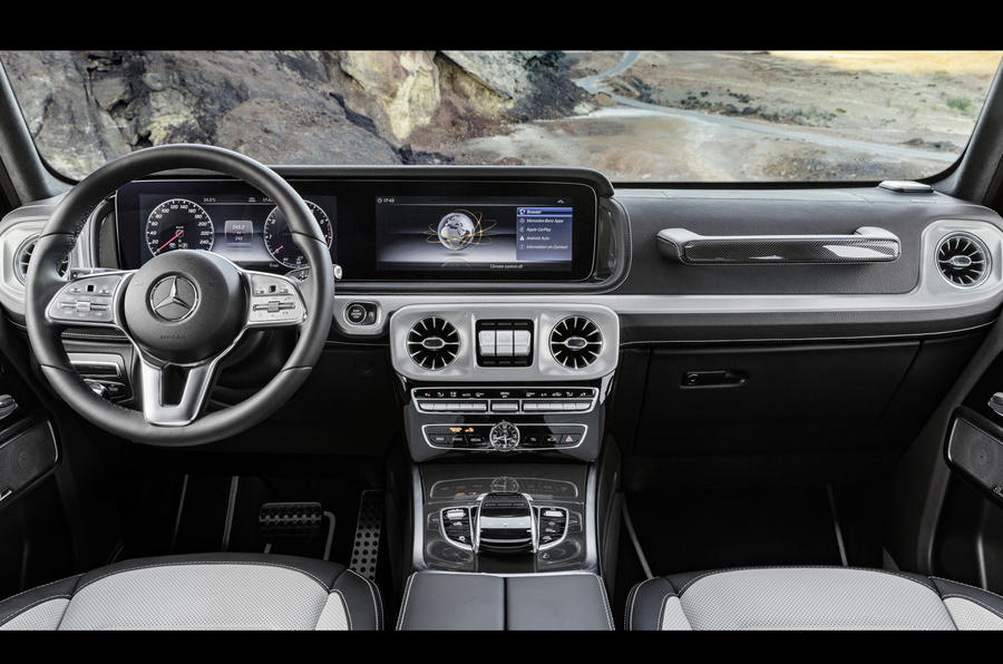mercedes benz g class interior revealed ahead of january launch autocar. Black Bedroom Furniture Sets. Home Design Ideas