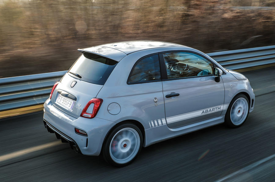 Abarth 595 Essesse 2019 first drive review - on the road rear