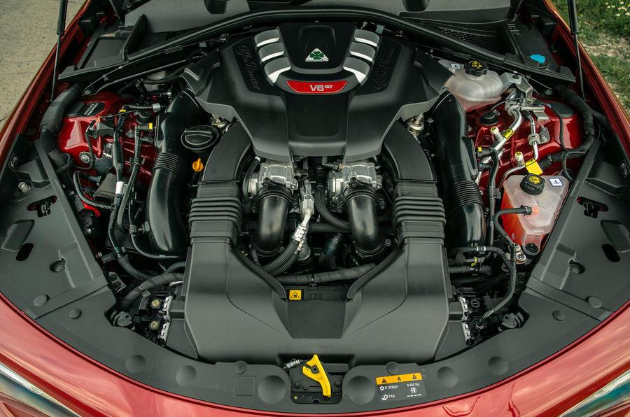 Alfa Romeo Giulia Quadrifoglio 2020 UK first drive review - engine