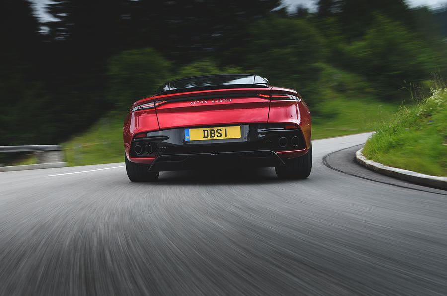 Aston Martin DBS Superleggera 2018 first drive review on the road rear