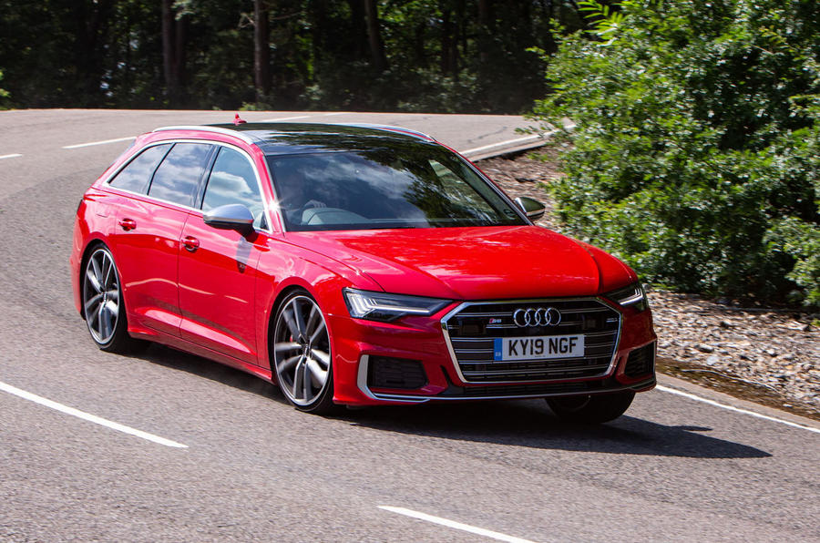 Audi S6 Avant TDI 2019 UK first drive review - cornering front