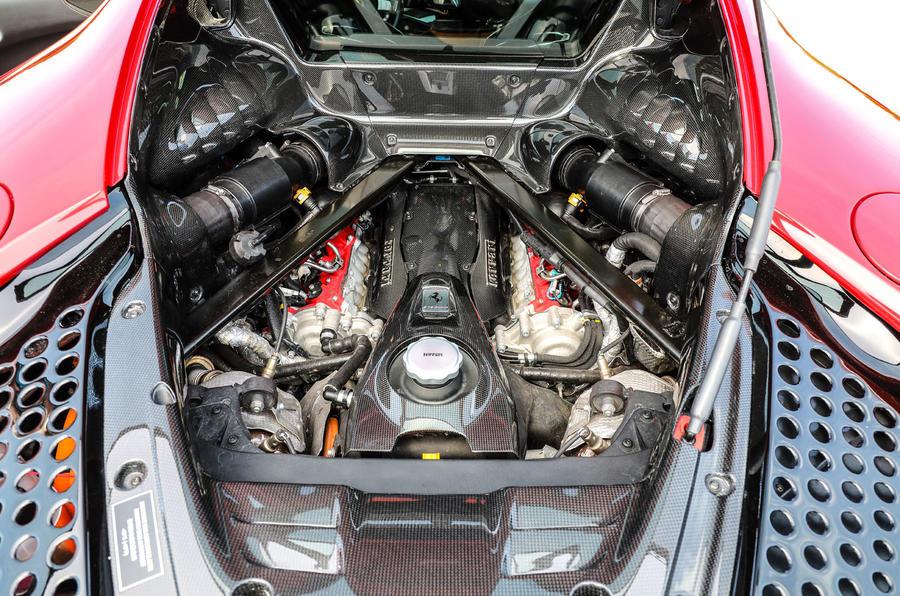 Ferrari SF90 Stradale 2020 first drive review - engine
