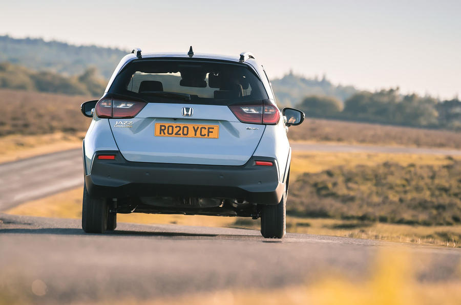 Honda Jazz Crosstar 2020 UK first drive review - on the road rear