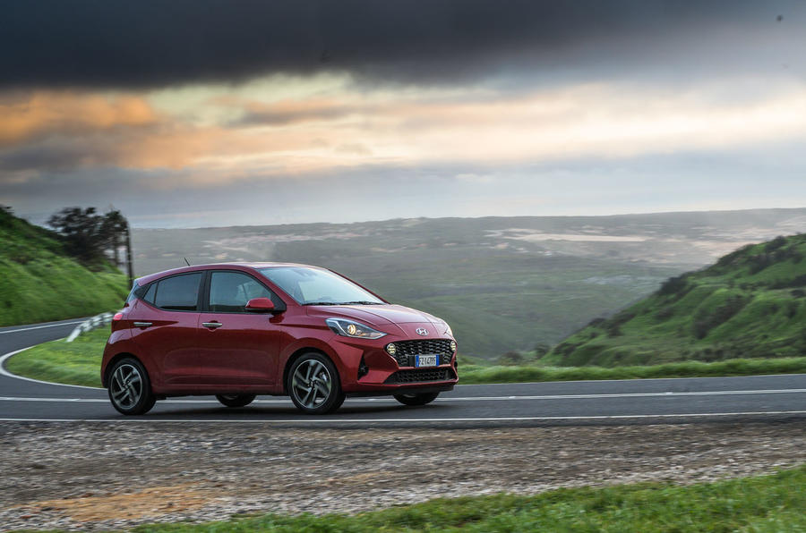 Hyundai i10 2020 first drive review - cornering front