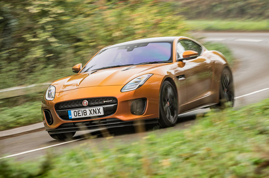 Jaguar F-Type MY2018 first drive review - cornering front
