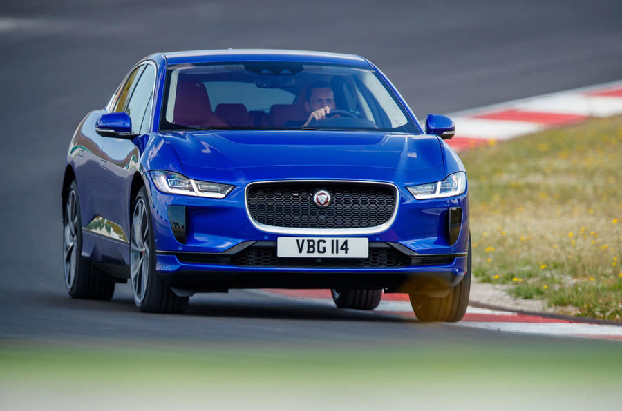 Jaguar I-Pace 2018 review track front