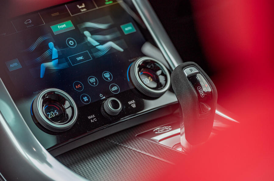 Land Rover Range Rover Sport HST 2019 UK first drive review - climate controls