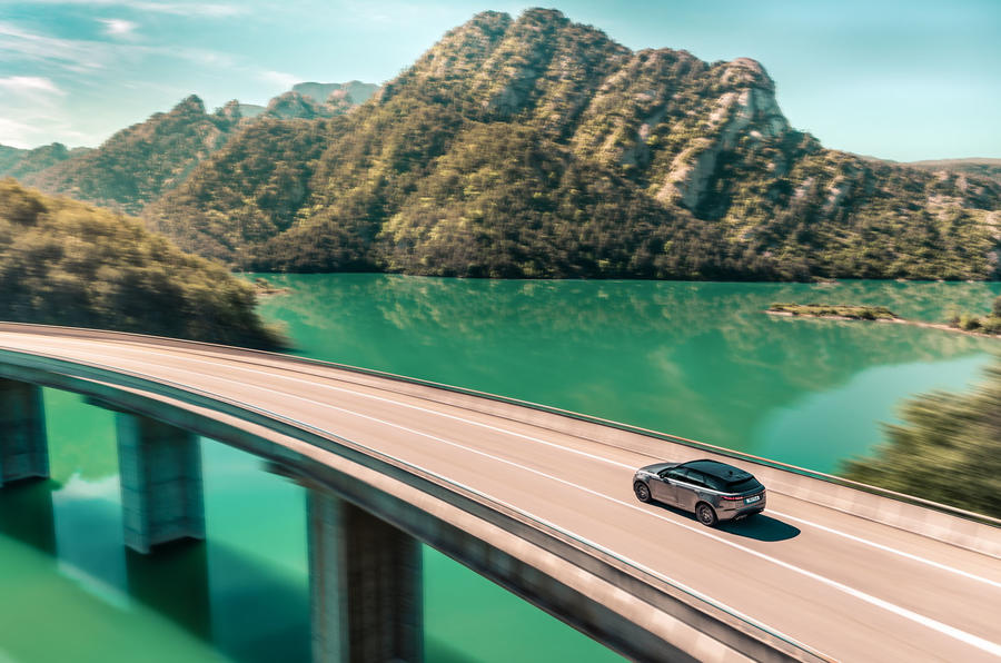 Land Rover Range Rover Velar SVAutobiography 2019 first drive review - on the road bridge