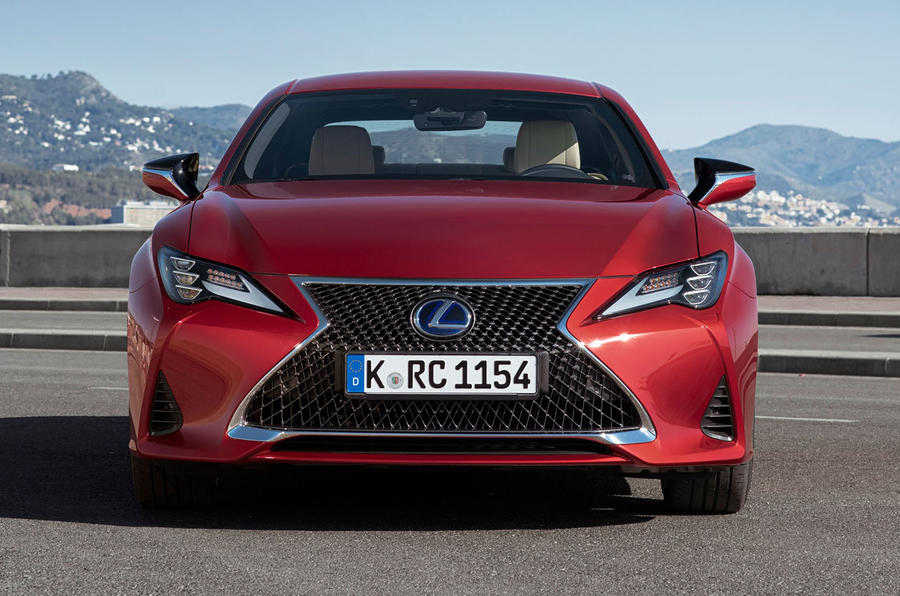 Lexus RC 300h 2019 first drive review - static nose