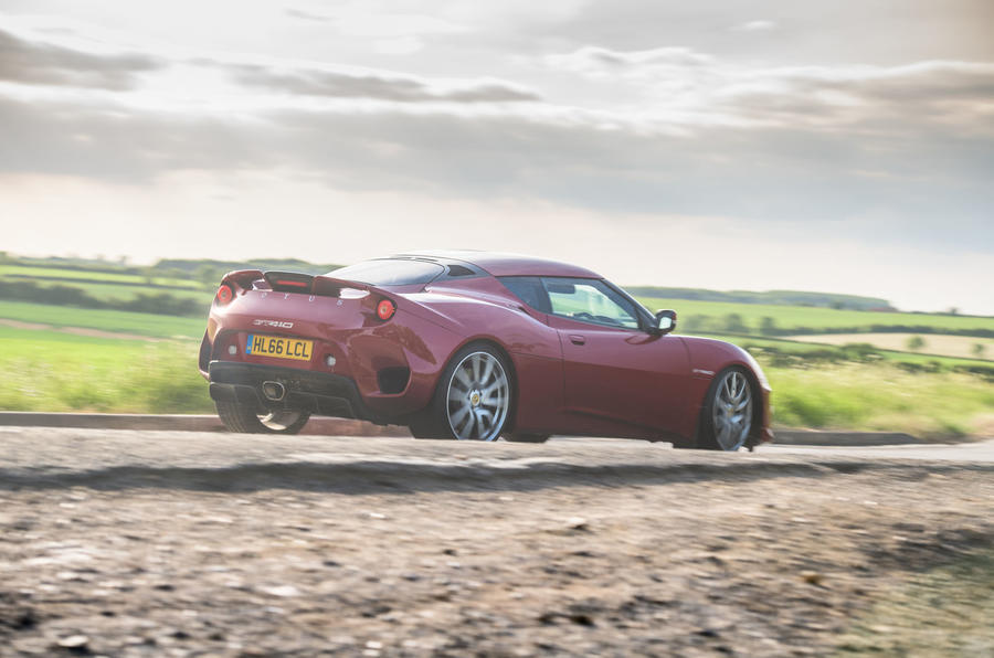 Lotus evora GT410 2020 UK first drive review - on the road rear