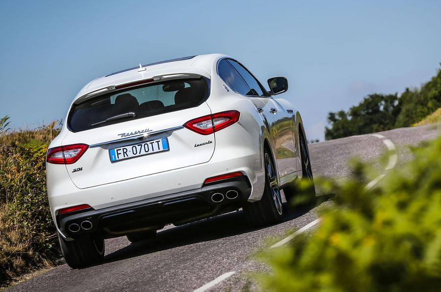 Maserati Levante Gransport 2018 UK first drive review cornering rear