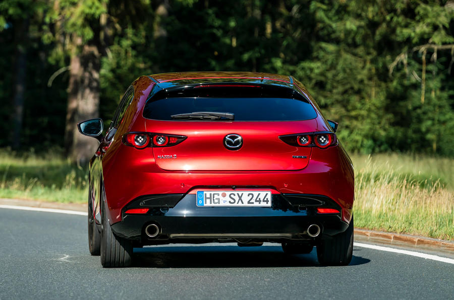 Mazda 3 Skyactiv-X 2019 first drive review - on the road rear
