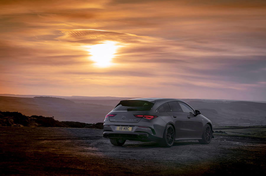 Mercedes-AMG CLA 45 S Shooting Brake 2020 UK first drive review - static rear