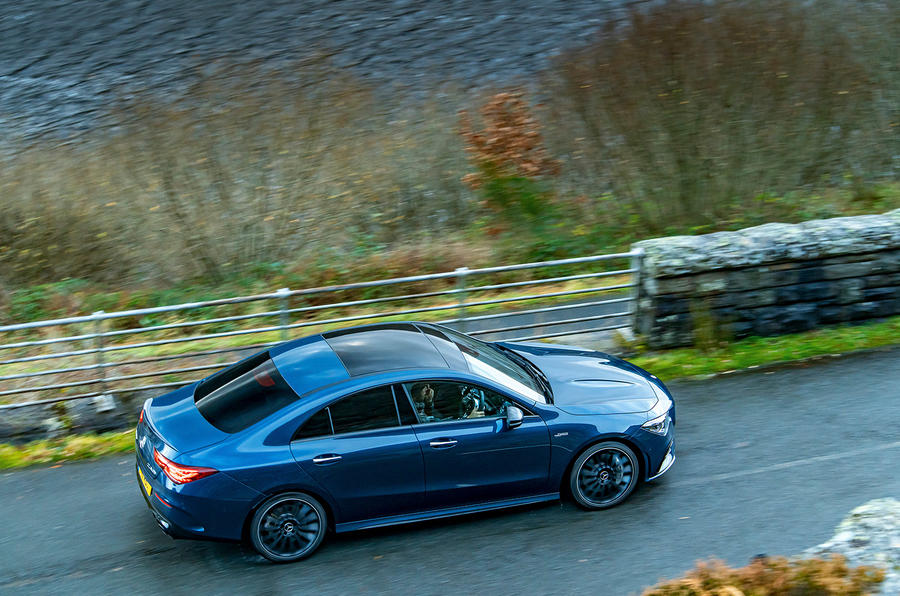 Mercedes-AMG CLA35 2020 UK first drive review - on the road aerial