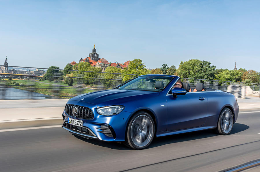 Mercedes-AMG E53 Cabriolet 2020 first drive review - on the road front