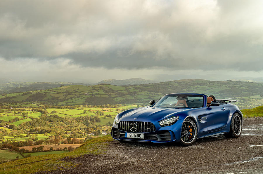Mercedes-AMG GT R Roadster 2019 UK first drive review - static front
