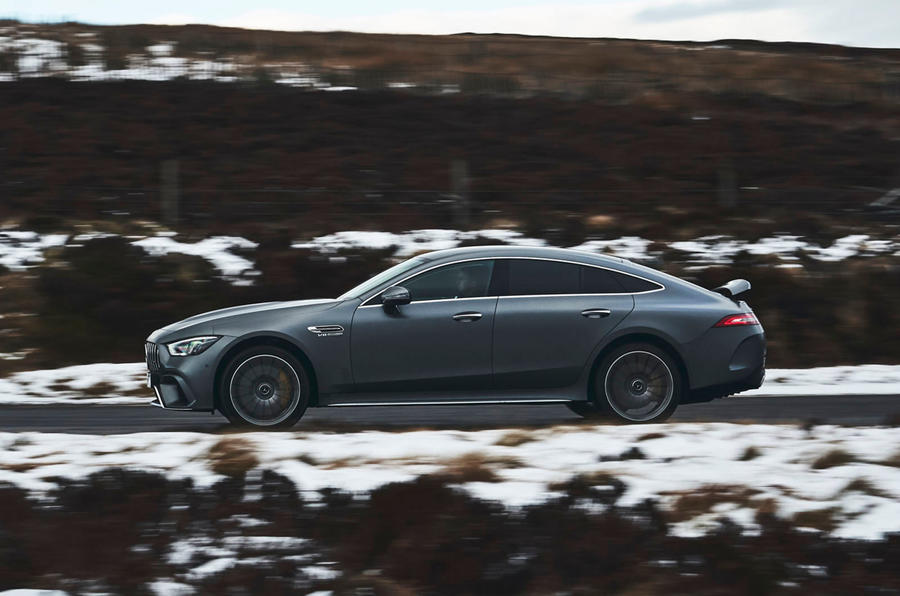 Mercedes-AMG GT 63 S 4-door Coupé 2019 UK first drive review - on the road side