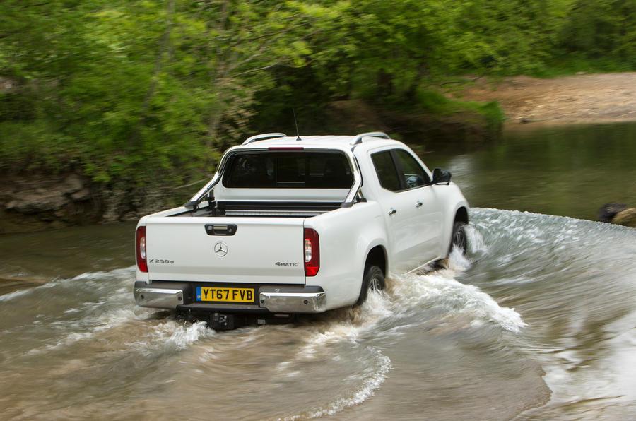 Mercedes-Benz X-Class longterm review wading rear