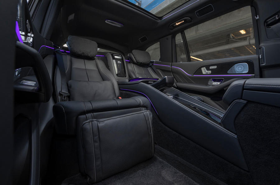 Mercedes-Maybach GLS 600 2020 first drive review - rear seats