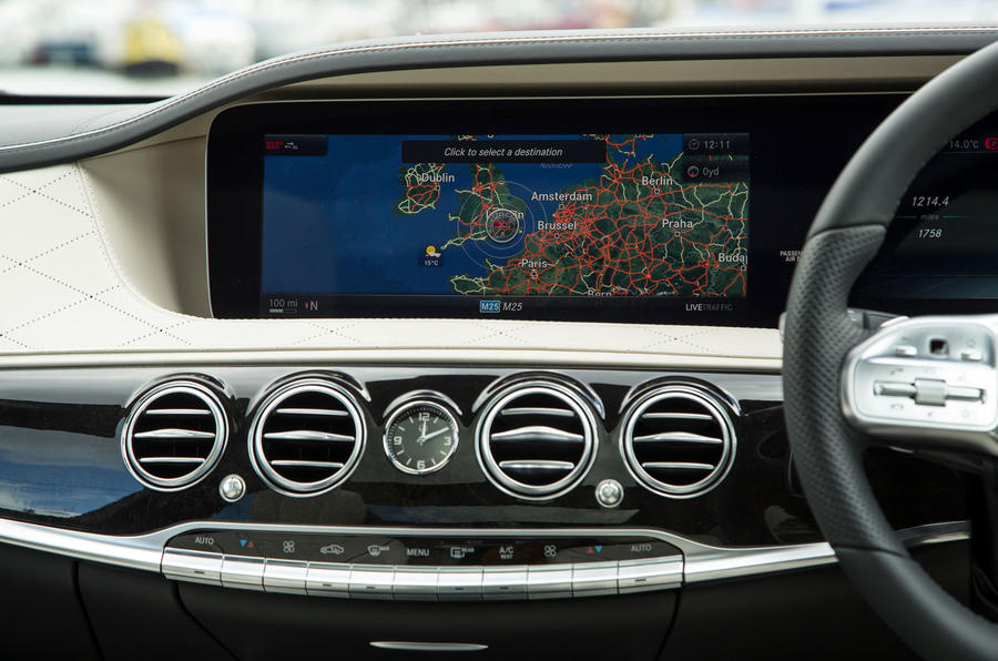 Mercedes-Benz S-Class S500L 2018 long-term review - infotainment