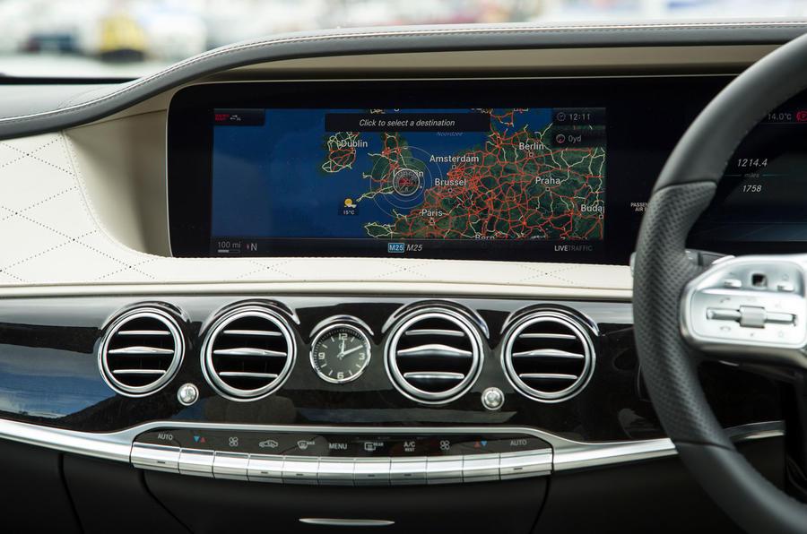 Mercedes-Benz S-Class S500L 2018 long-term review - infotainment