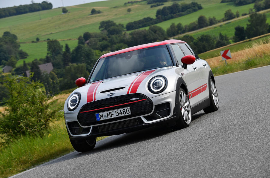 Mini Clubman John Cooper Works 2019 first drive review - cornering front