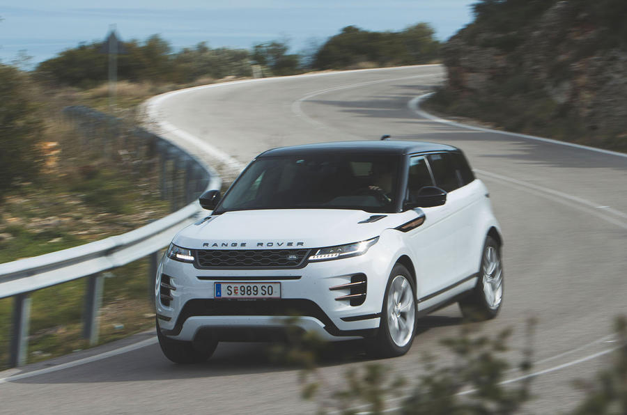 Range Rover Evoque 2019 first drive review - cornering front