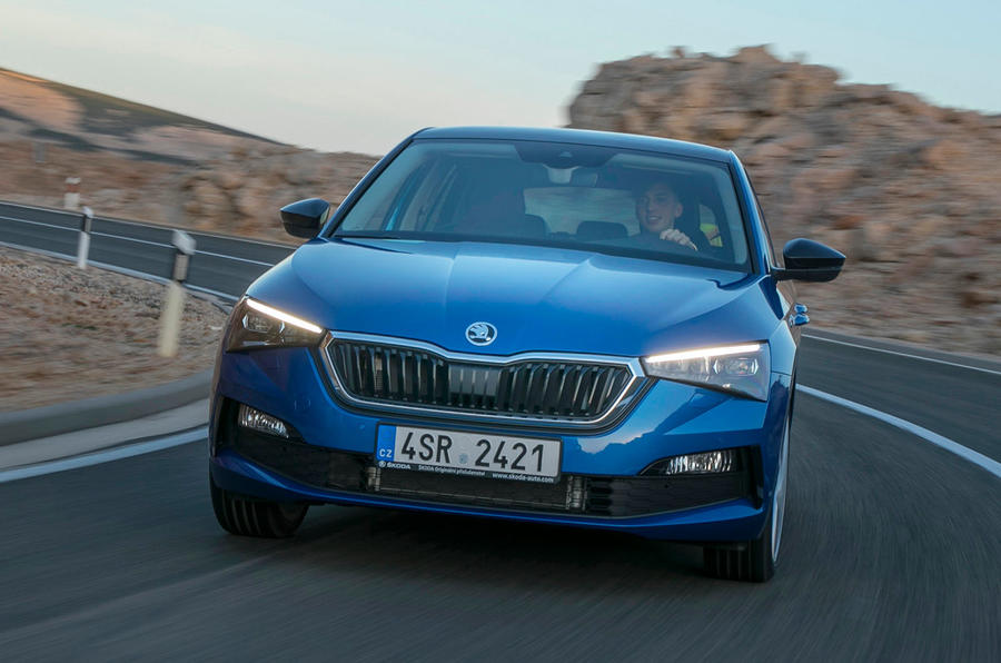 Skoda Scala 2019 first drive review - cornering front